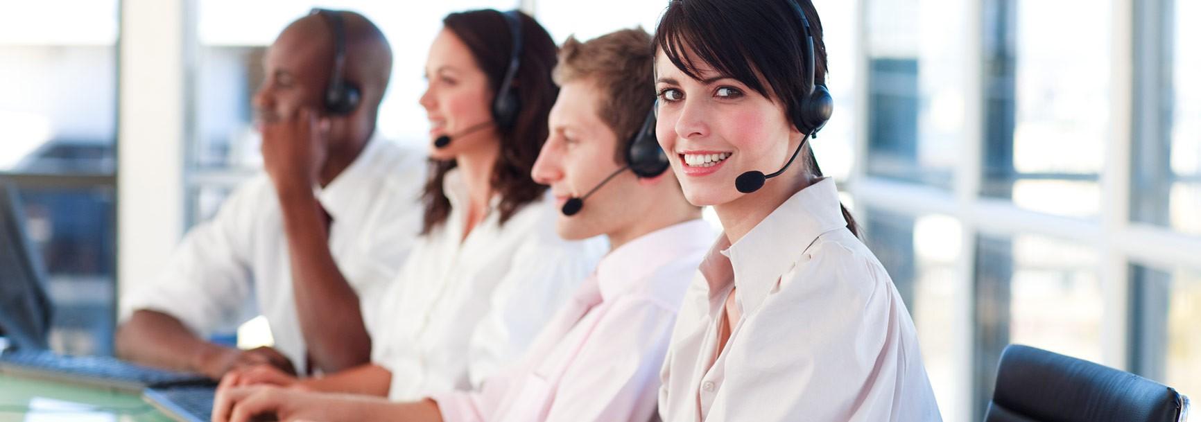 Mitarbeiter im Call Center
